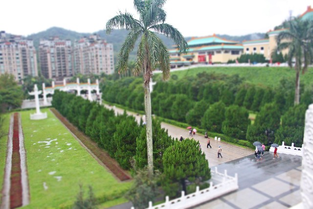 Tilt Shift Effect on the Walkway towards National Palace Museum