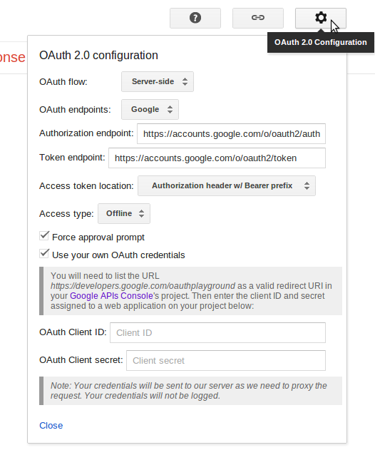 OAuth 2.0 Configuration
